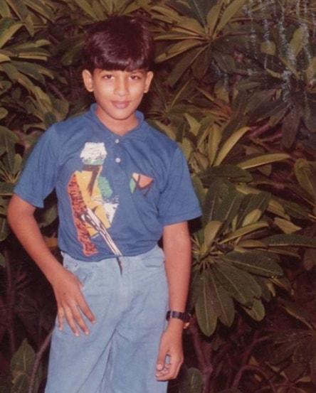 allu arjun childhood photo
