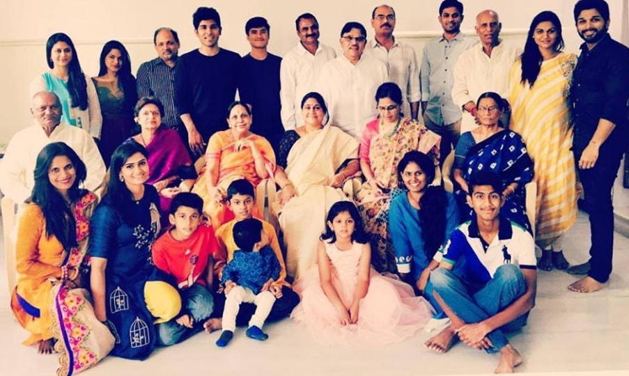 Allu Arjun family photo