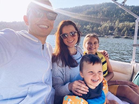 Karolina Protsenko With her Family