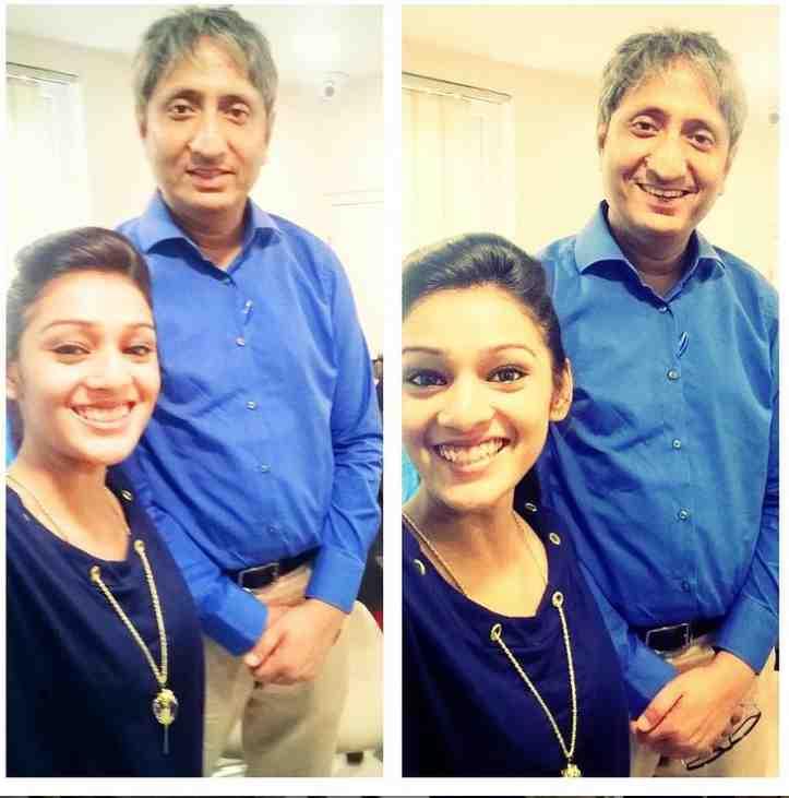 RJ Mahvash with Ravish Kumar
